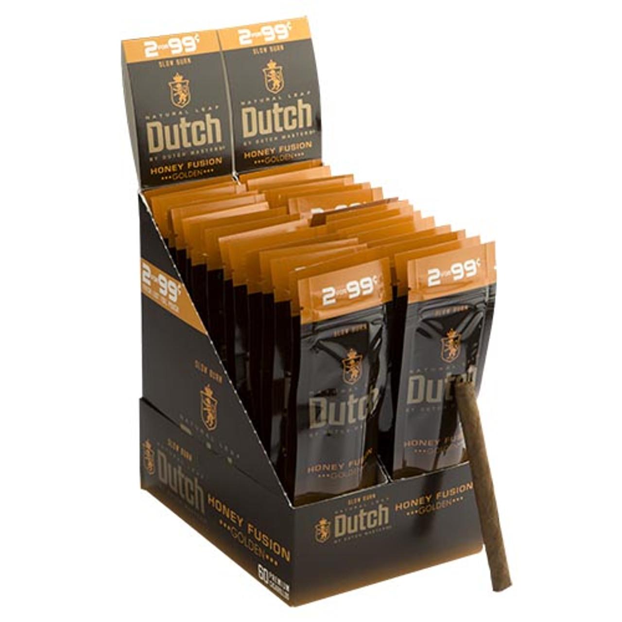 Dutch Masters Cigarillos Honey Fusion Cigars (30 Packs of 2) - Natural