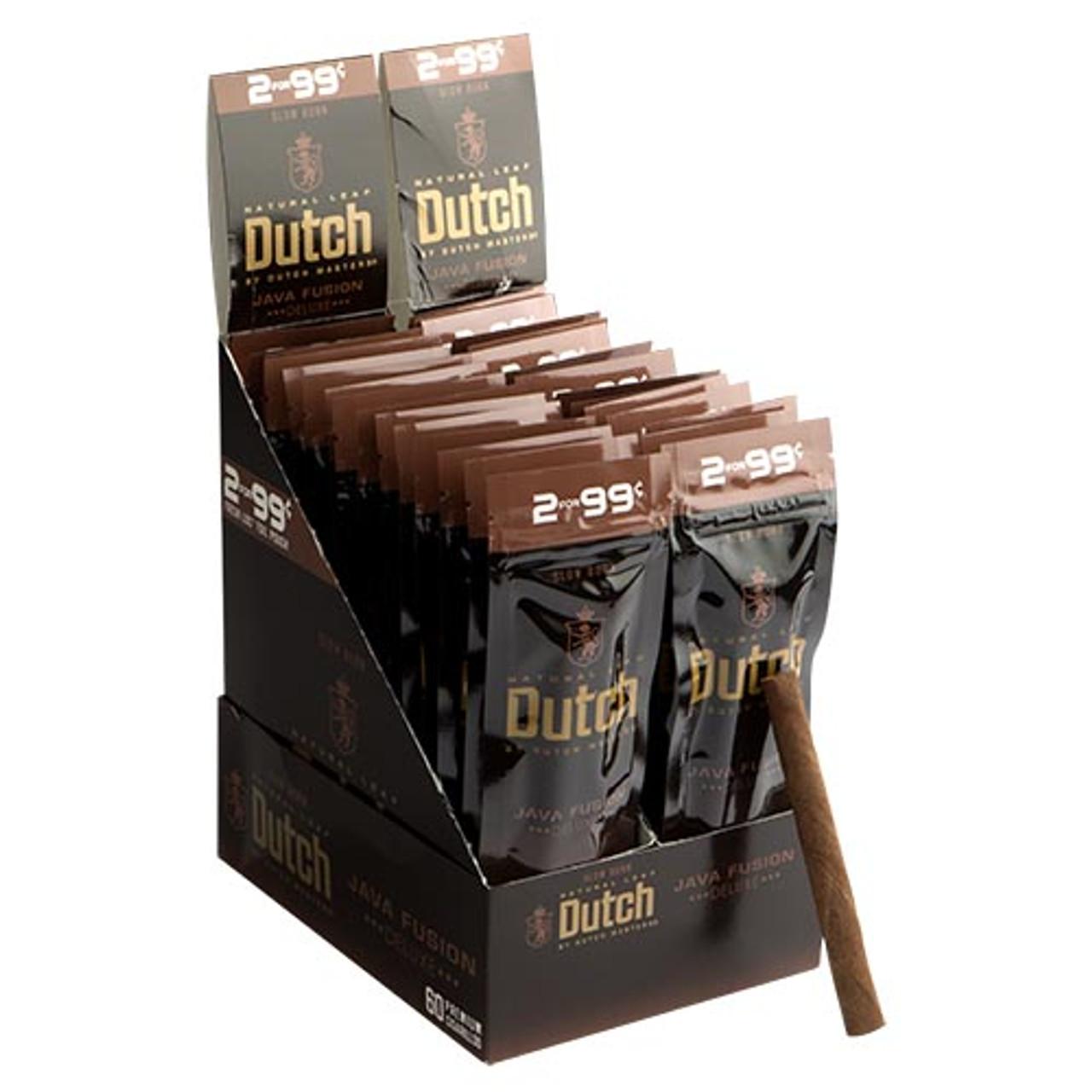 Dutch Masters Cigarillos Java Fusion Cigars (30 Packs of 2) - Natural