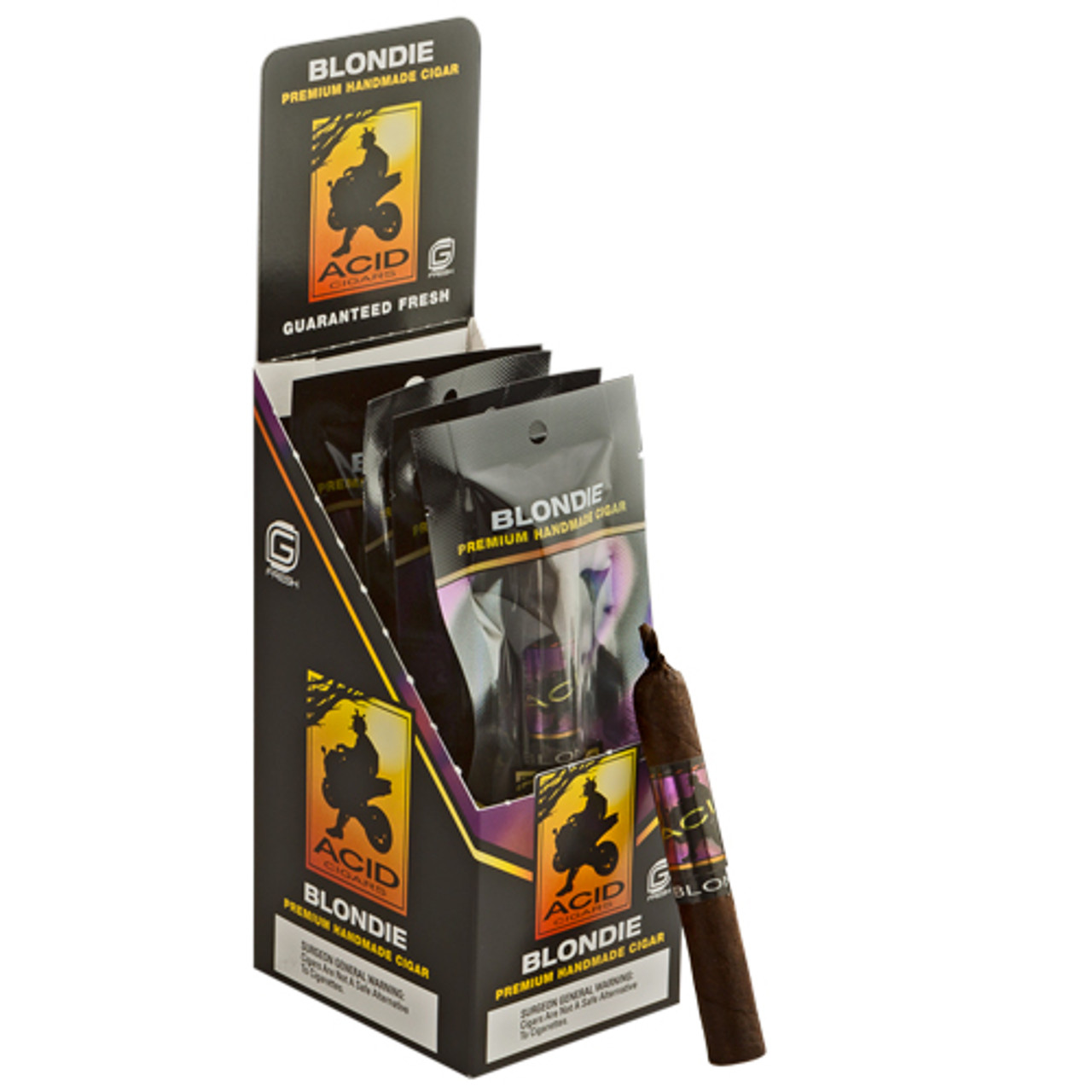 Acid G-Fresh Blondie Purple Cigars - 4 x 38 (Pack of 5)
