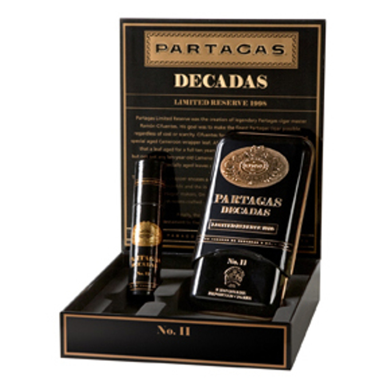 Cigar Samplers Partagas Decadas Limited Reserve 1998 Gift Set Cigars - 5.5 x 50 (Box of 3)
