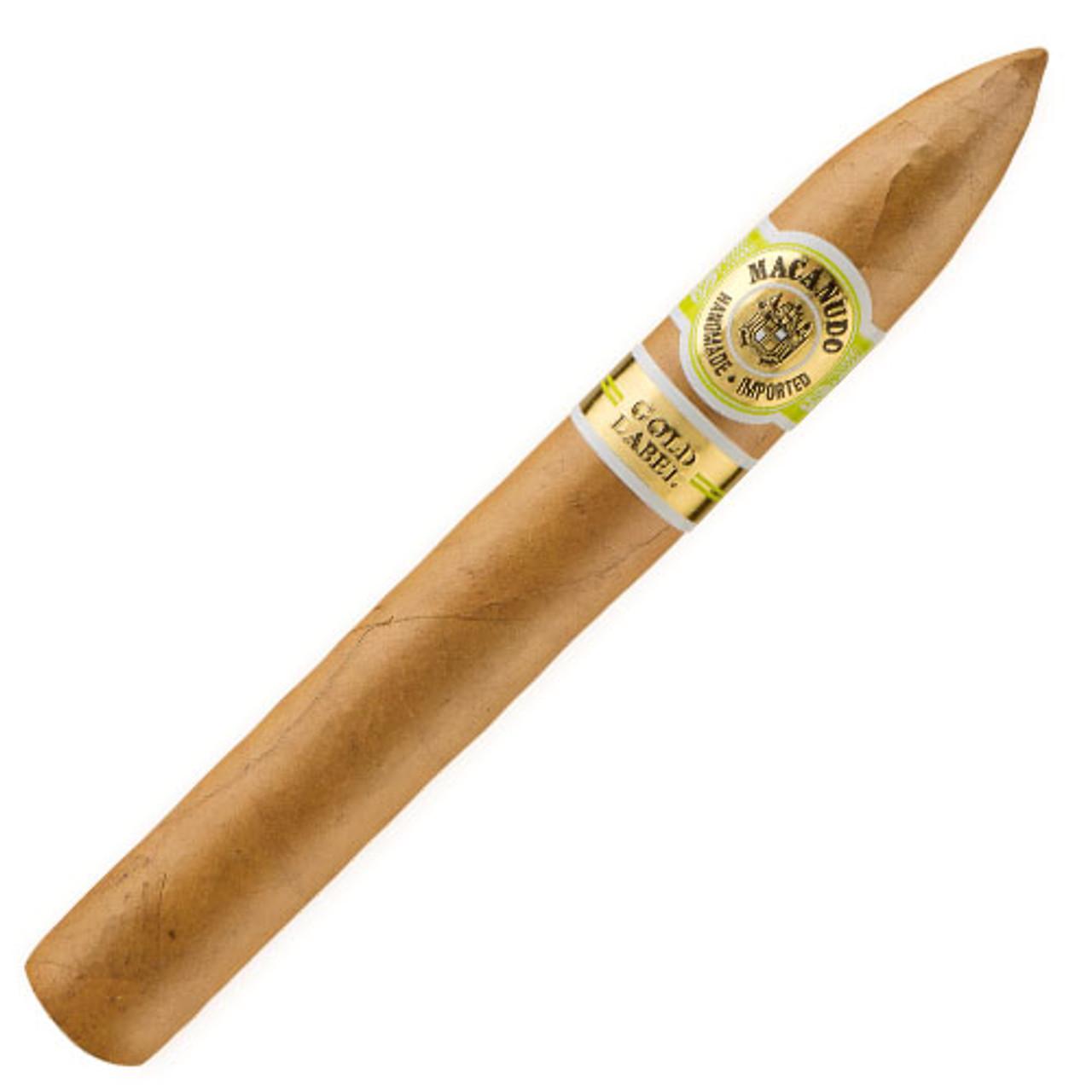 Macanudo Gold Label Gold Torpedo Cigars - 6.5 x 52 (Box of 21)