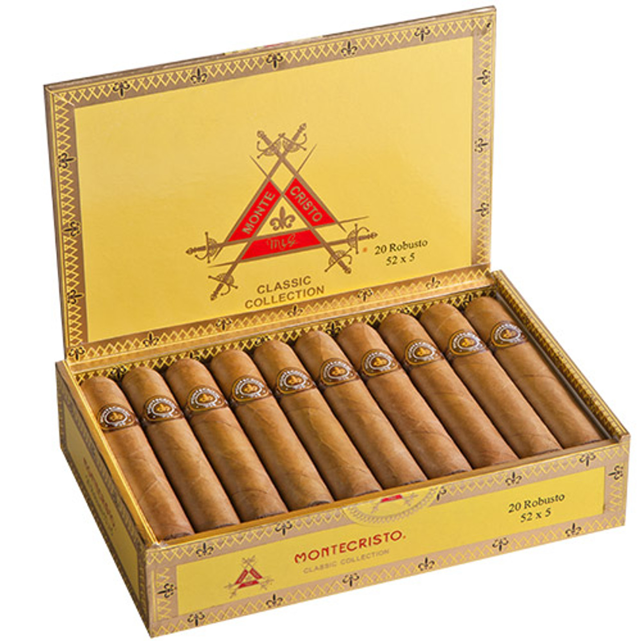 Montecristo Classic Toro Cigars - 6 x 52 (Box of 20)