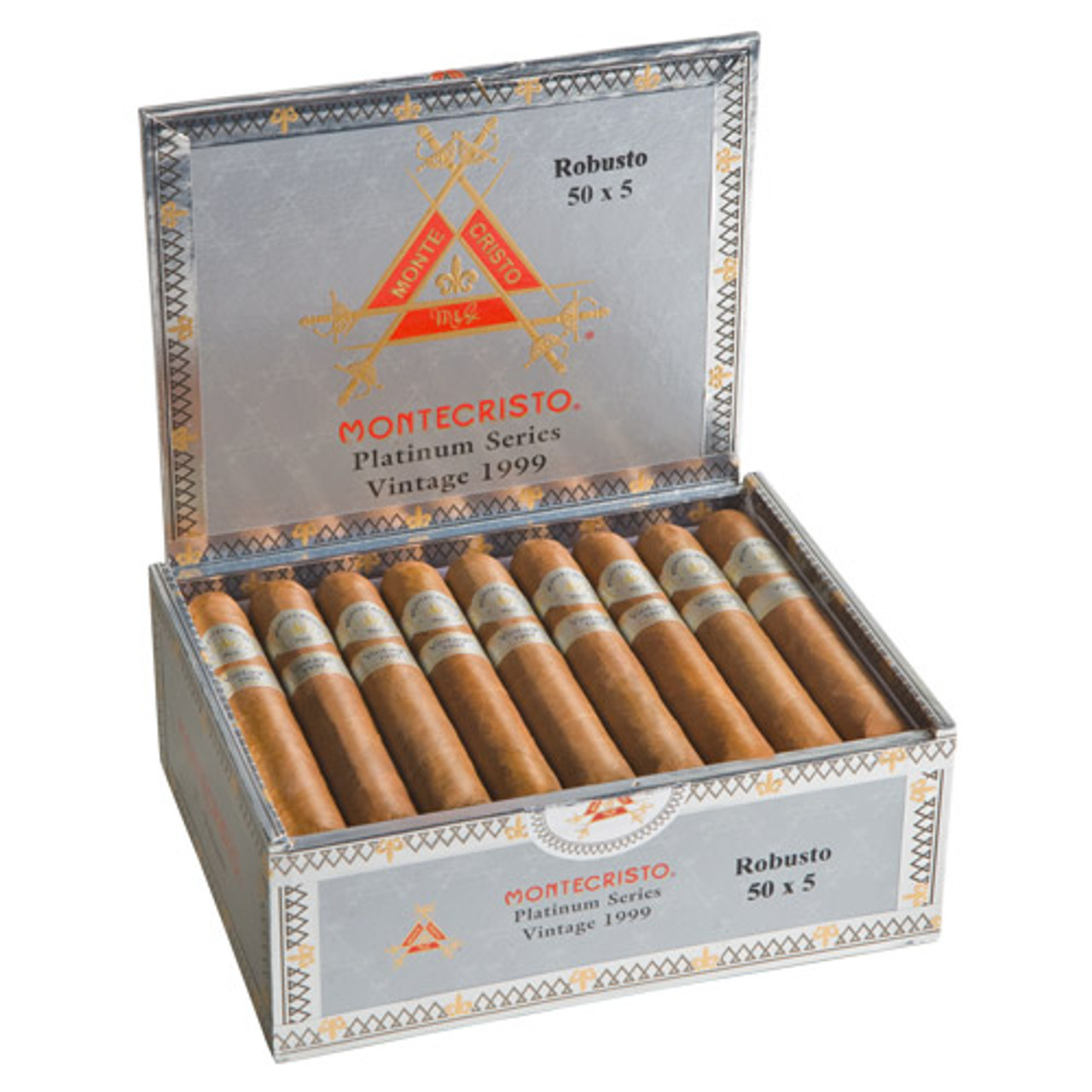 Montecristo Platinum Series Habana No. 2 Belicoso Cigars - 6.12 x 52 (Box of 27)