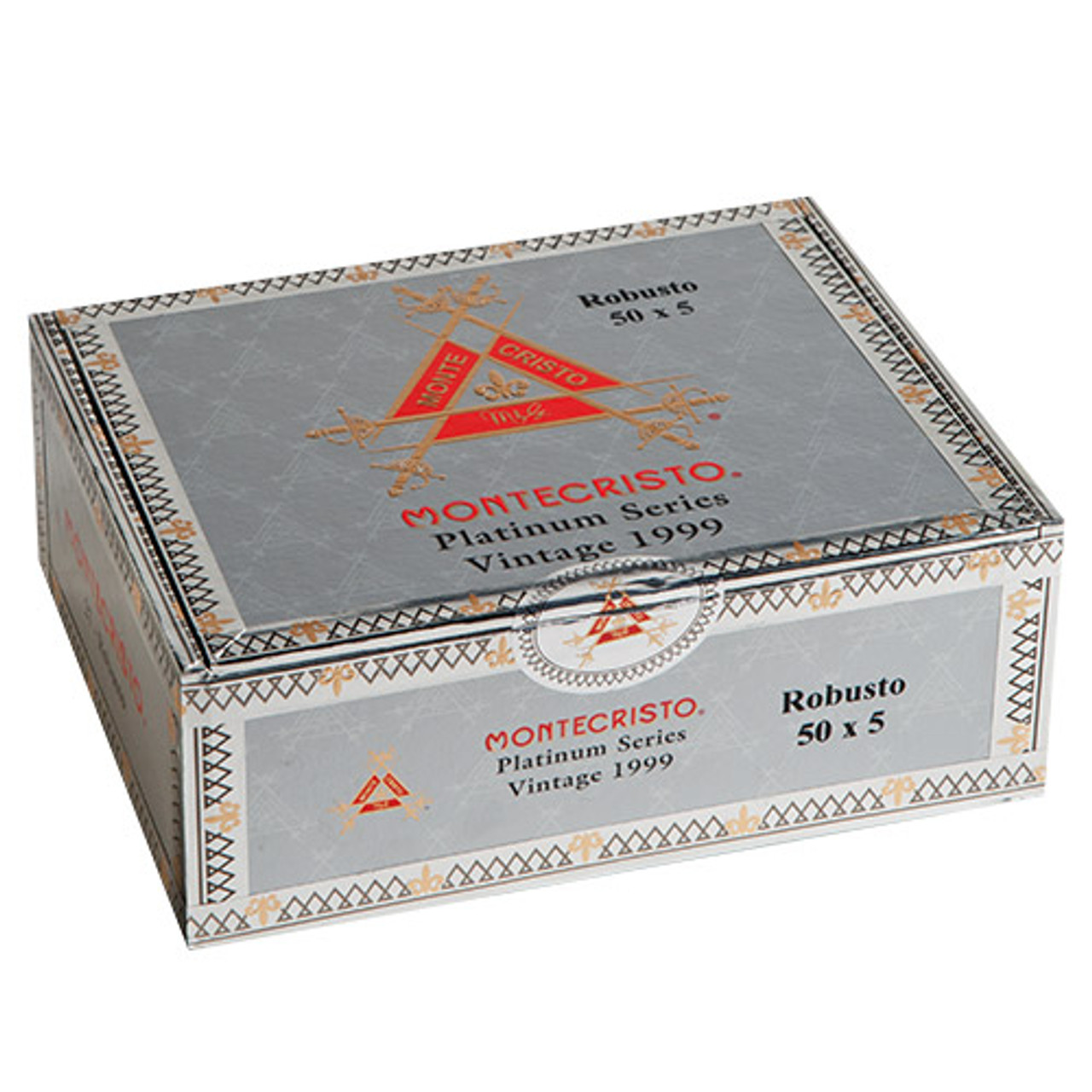 Montecristo Platinum Series Rothchilde Cigars - 5 x 50 (Box of 15 Aluminum Tubes)