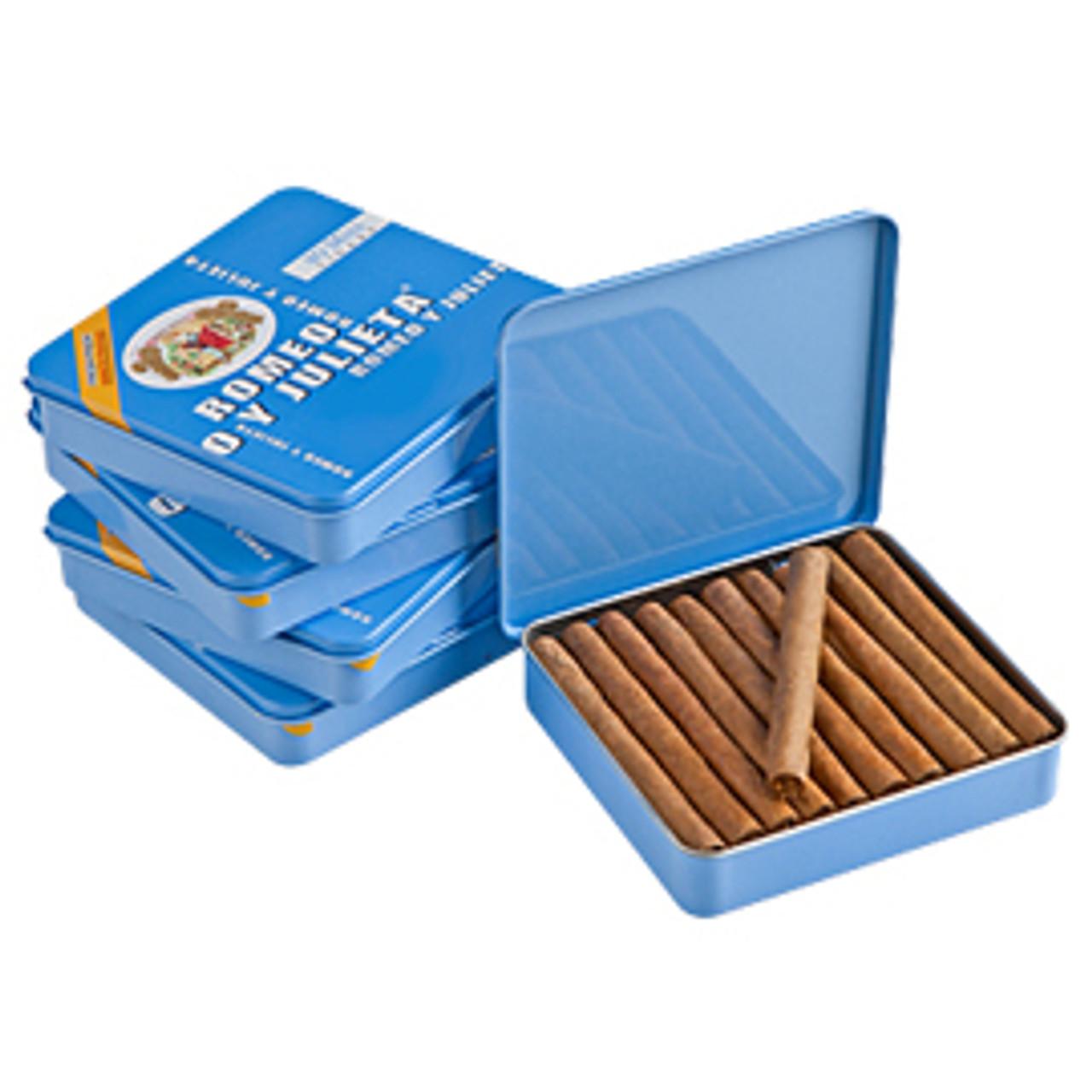 Romeo y Julieta 1875 Mini Blue Mild Cigars - 2.88 x 20 (5 Tins of 20 (100 total))