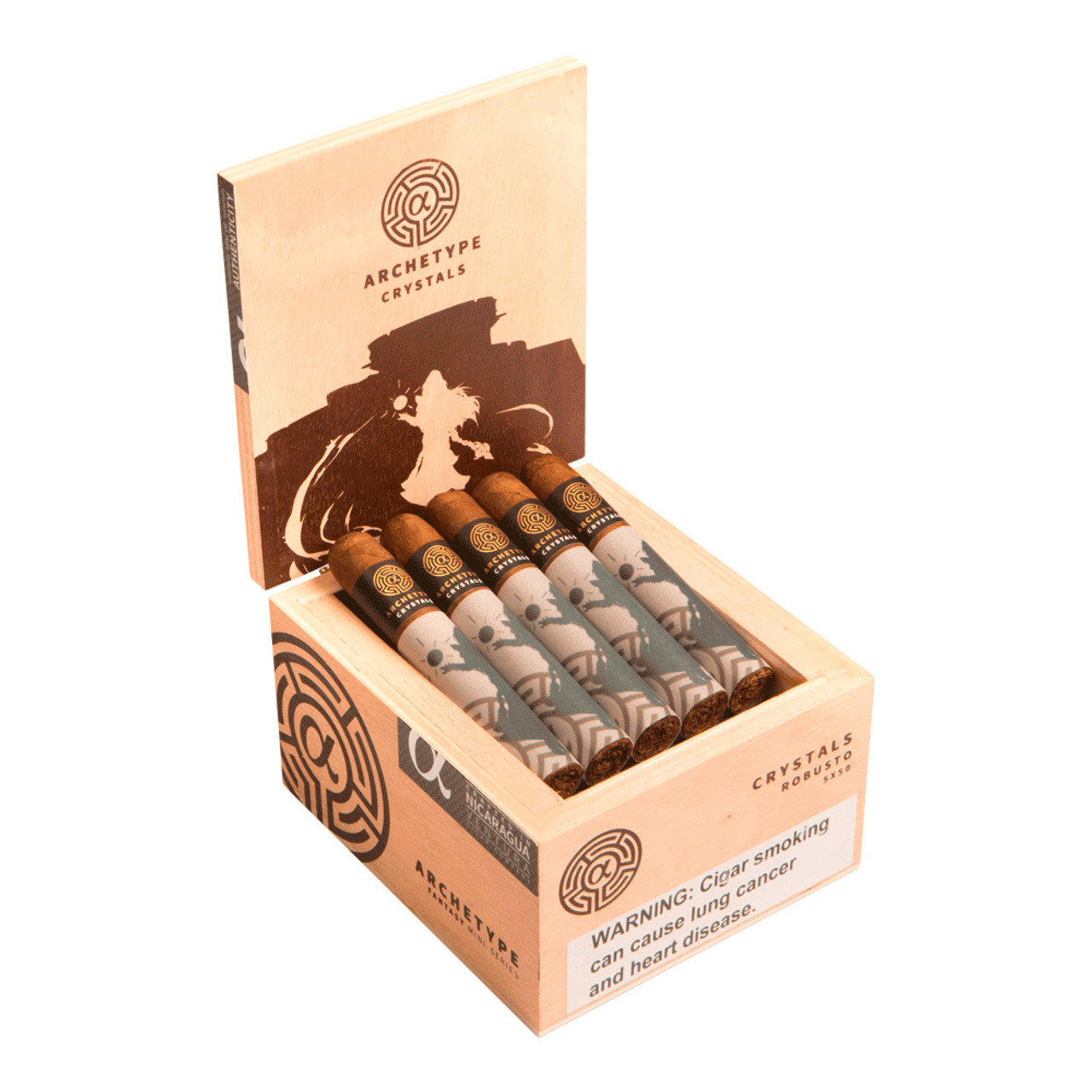Archetype Curses Robusto Cigars - 5 x 50 (Box of 20)