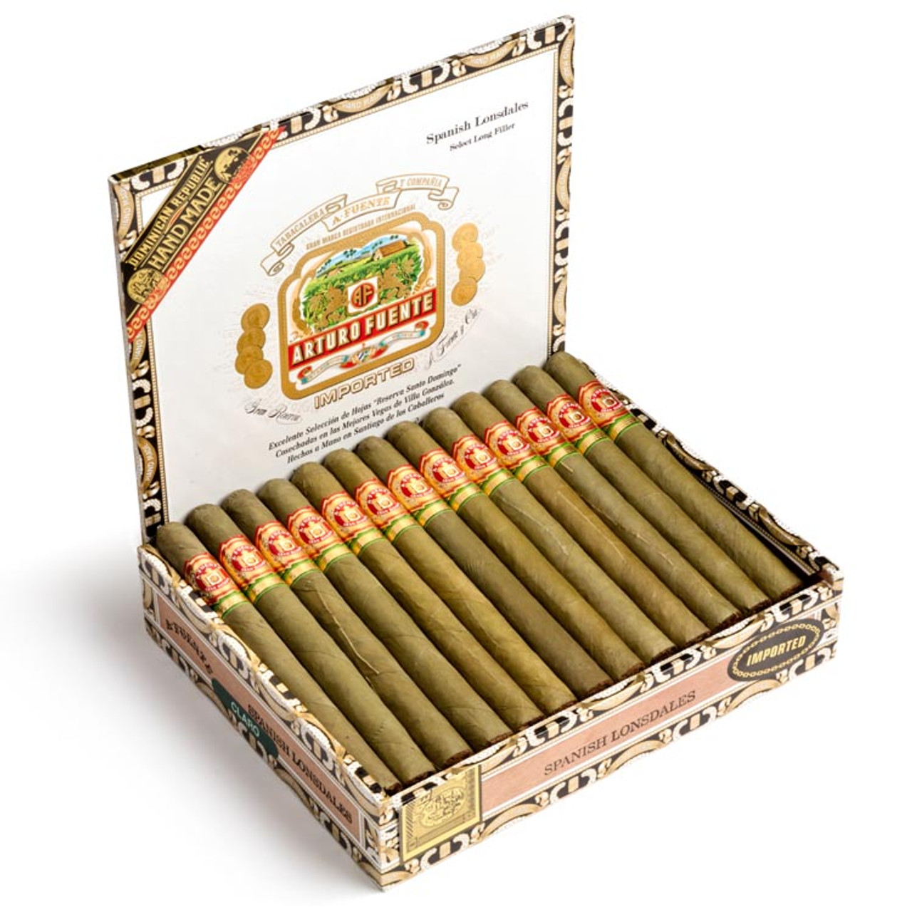 Arturo Fuente Spanish Lonsdale Cigars - 6.5 x 42 (Box of 25)