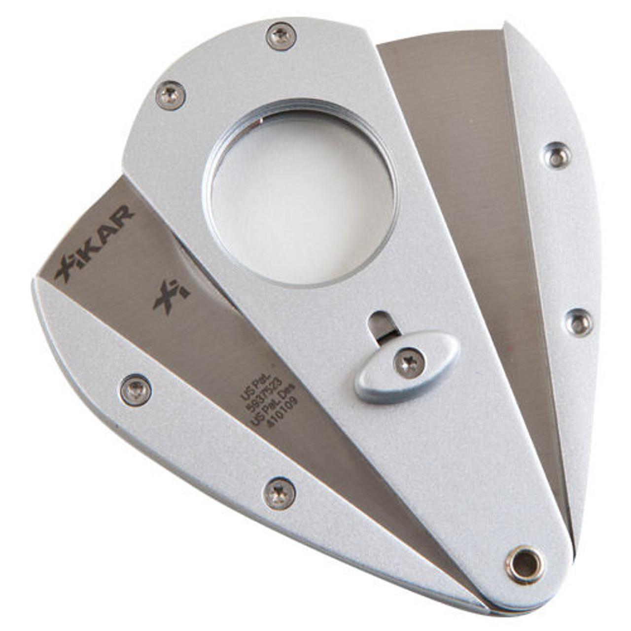 XI1 Silver Xikar Cigar Cutter - Double Blade Cutter (XI-Silver-3CCX1S)