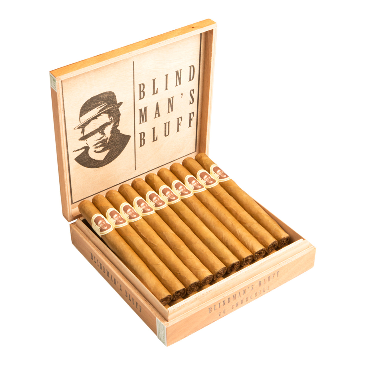 Blind Man's Bluff by Caldwell Cigar Co. Connecticut Churchill Cigars - 7 x 48 (Box of 20)