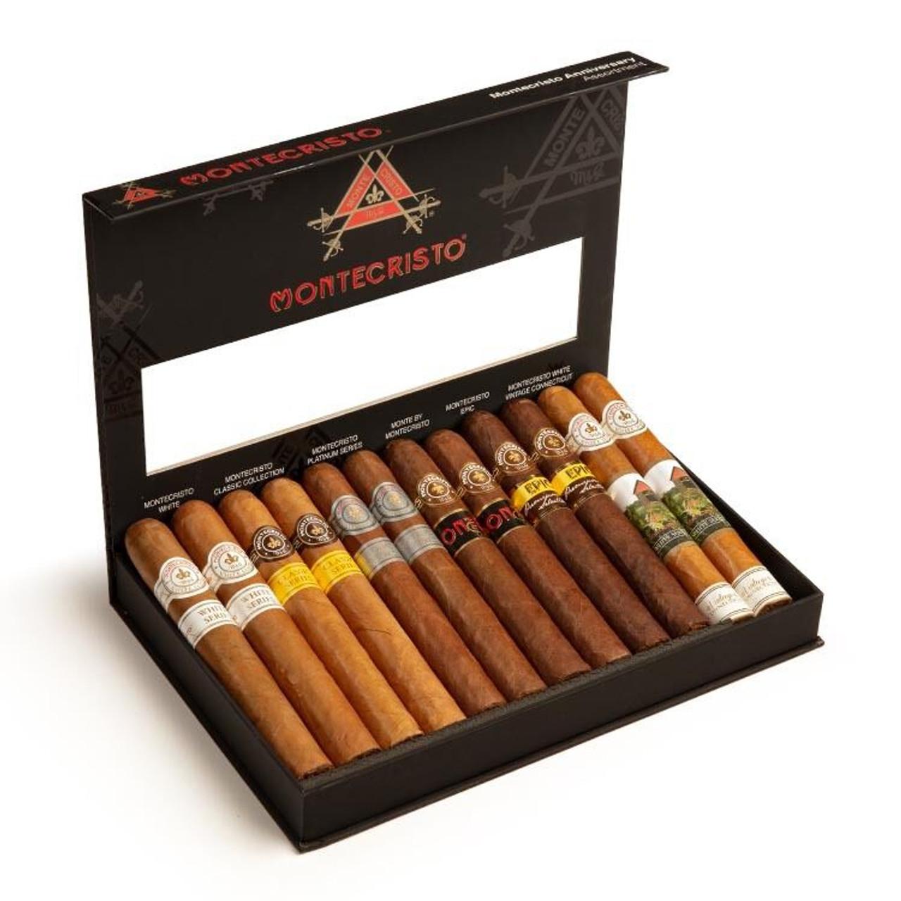 Cigar Samplers Montecristo 12-Cigar Sampler Cigars (Box of 12)