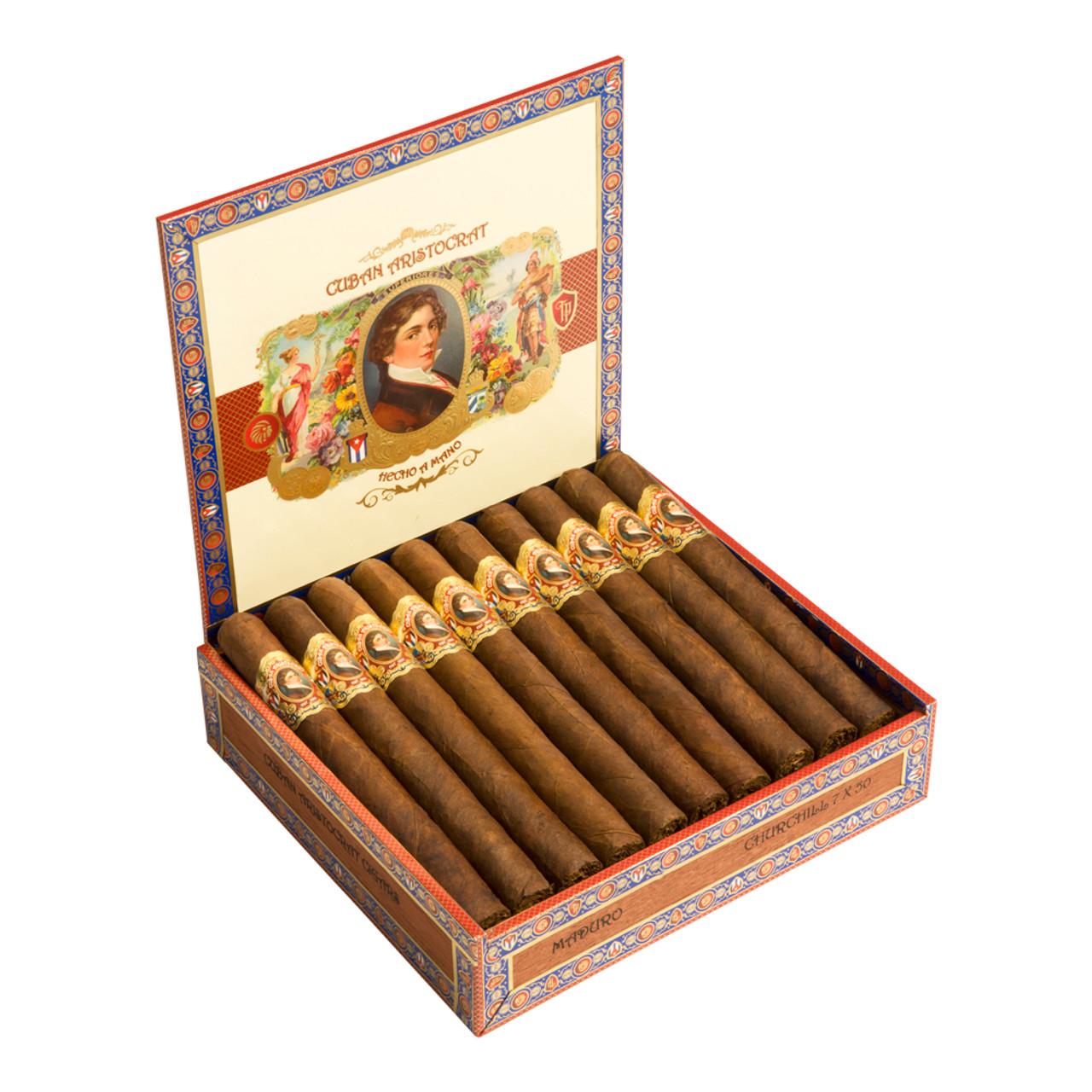 Cuban Aristocrat Churchill Maduro Cigars - 7 x 50 (Box of 20)