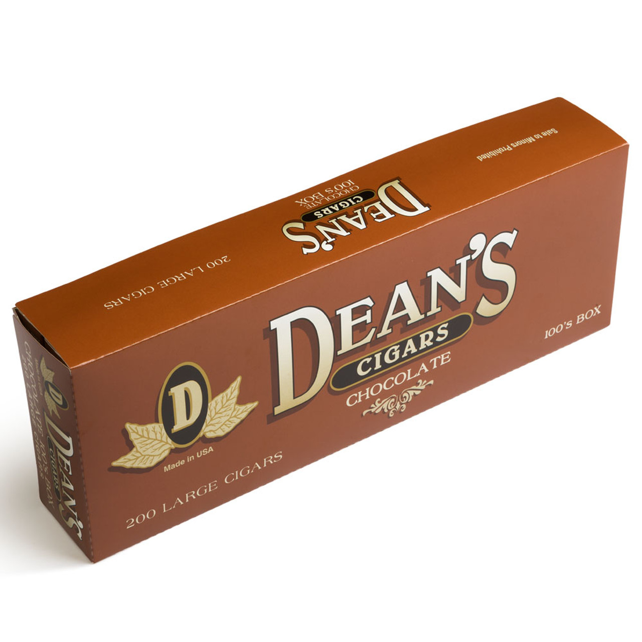 Dean's Filtered Cigars Chocolate Cigars - 3.87 x 20 (10 Packs of 20 (200 Total))