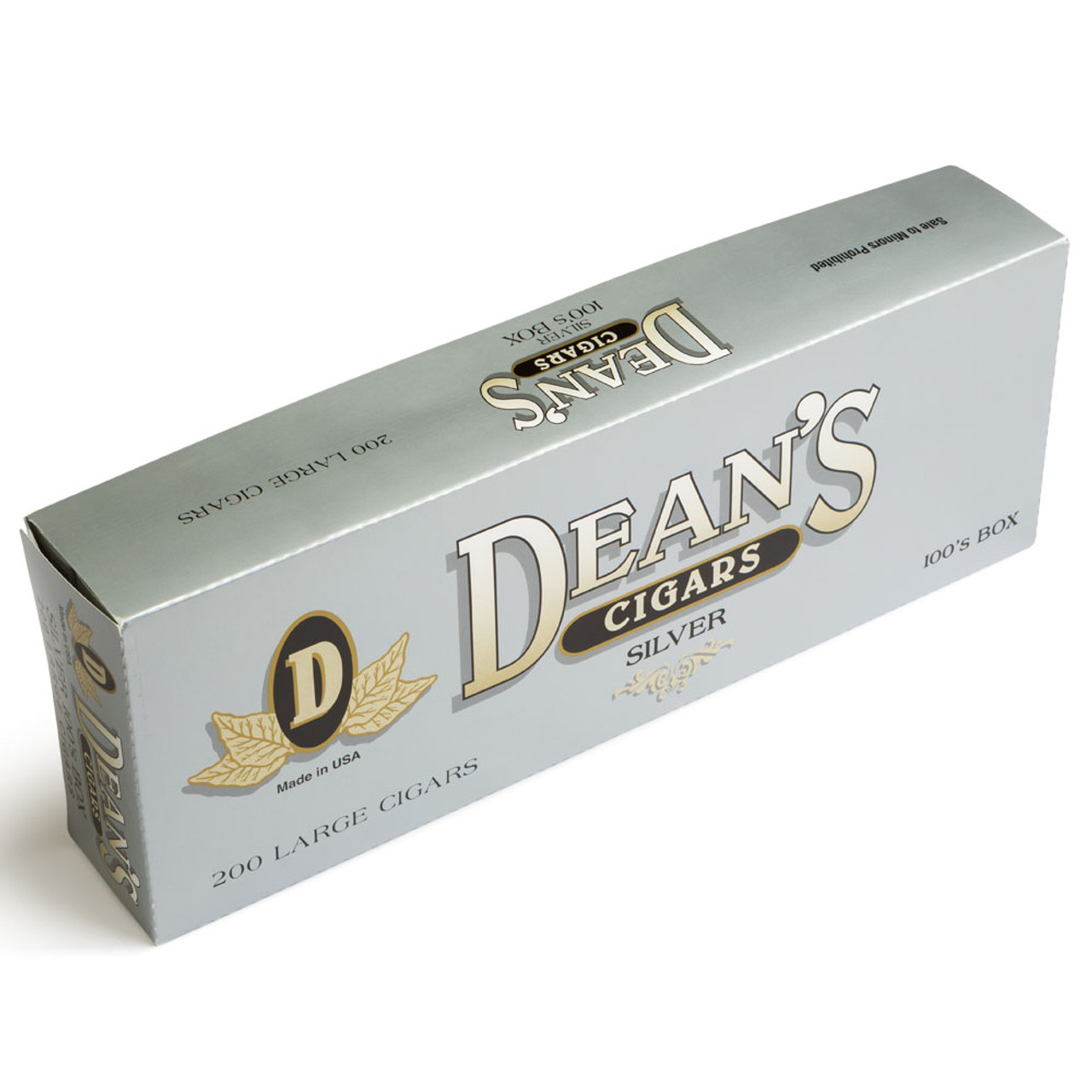 Dean's Filtered Cigars Silver Cigars - 3.87 x 20 (10 Packs of 20 (200 Total))