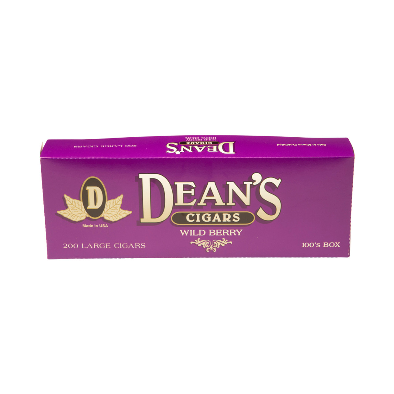 Dean's Filtered Cigars Wikd Berry Cigars - 3.81 x 20 (10 Packs of 20 (200 Total))
