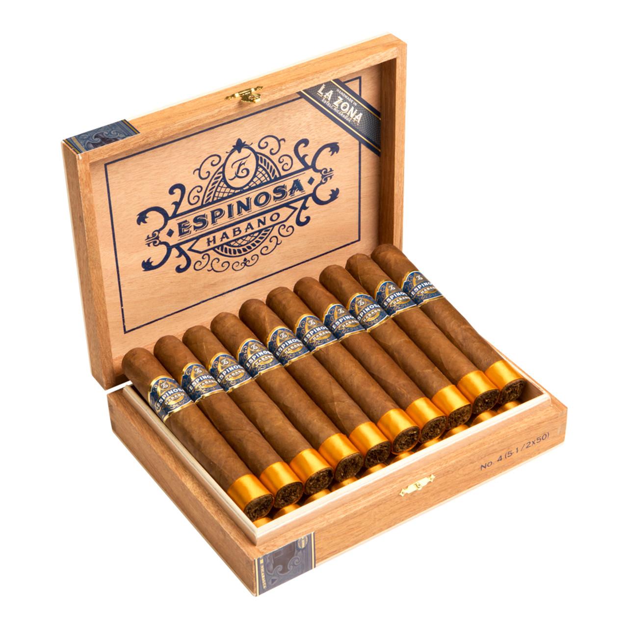Espinosa Habano No.4 Cigars - 5.5 x 50 (Box of 20)