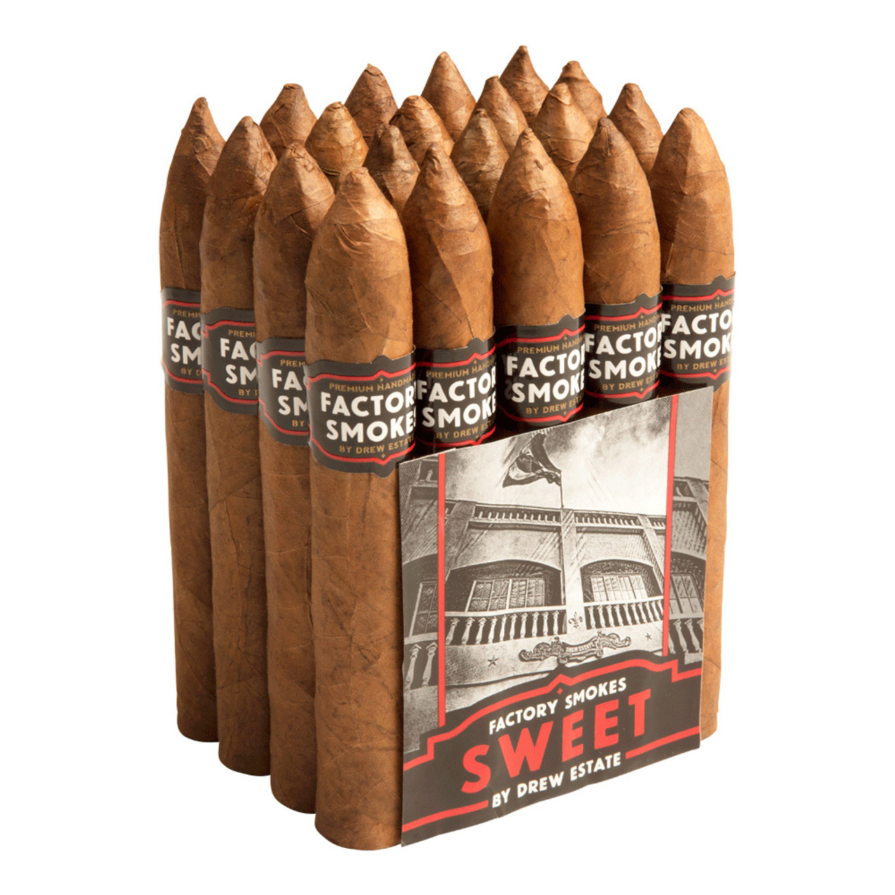 Factory Smokes by Drew Estate Belicoso Sweets Cigars - 6 x 54 (Bundle of 20)