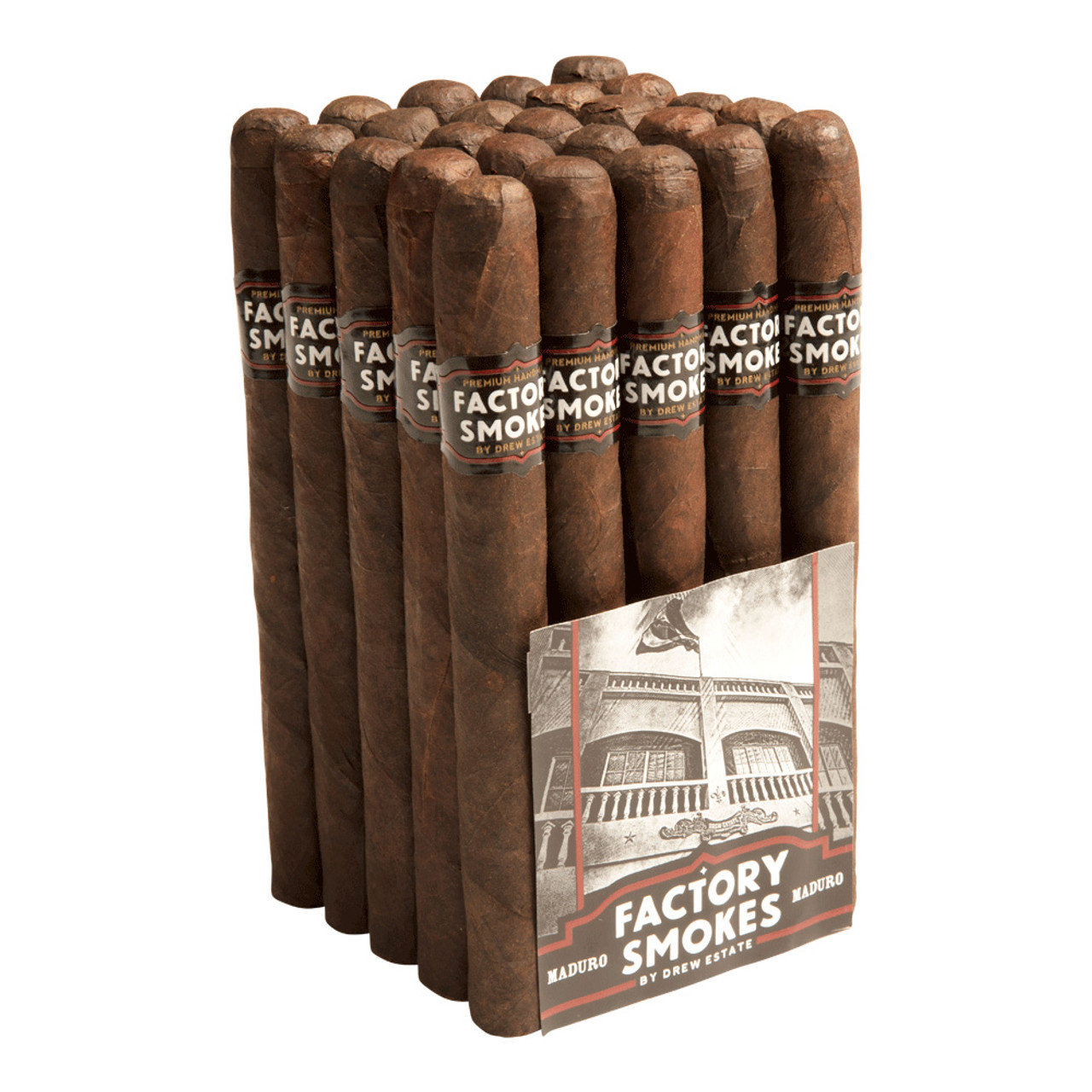 Factory Smokes by Drew Estate Churchill Maduro Cigars - 7 x 50 (Bundle of 20)