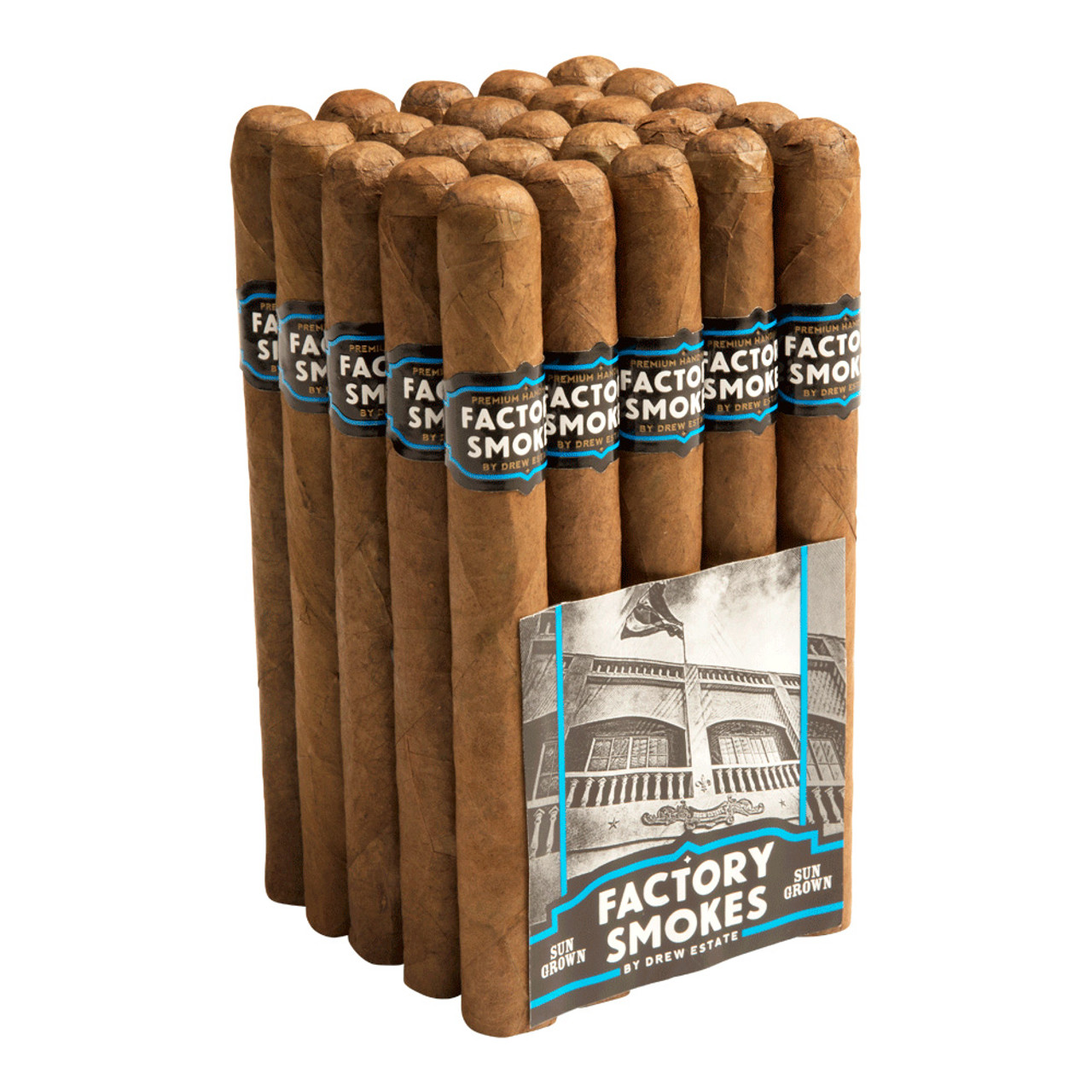 Factory Smokes by Drew Estate Churchill Sun Grown Cigars - 7 x 50 (Bundle of 20)