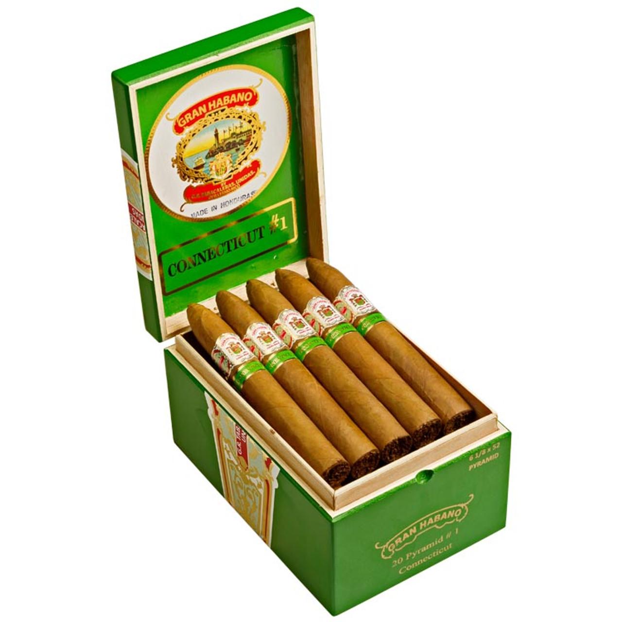 Gran Habano #1 Connecticut Pyramid Cigars - 6.12 x 52 (Box of 20)