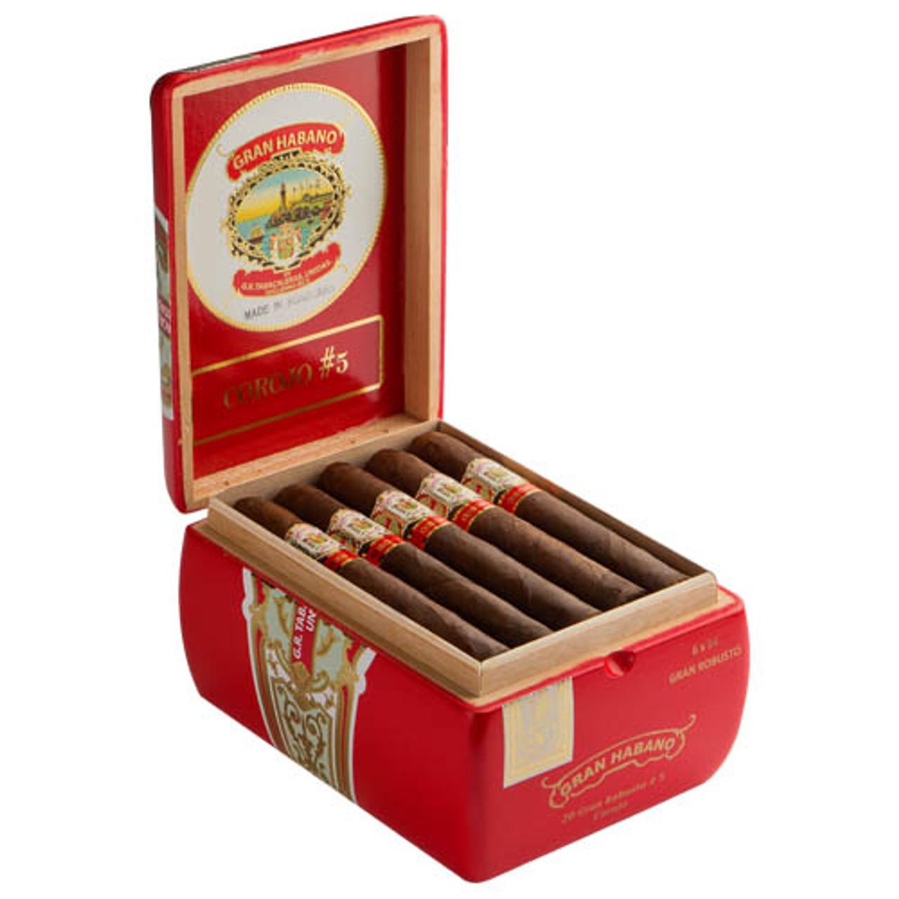 Gran Habano #5 Corojo Churchill Cigars - 7 x 48 (Box of 20)