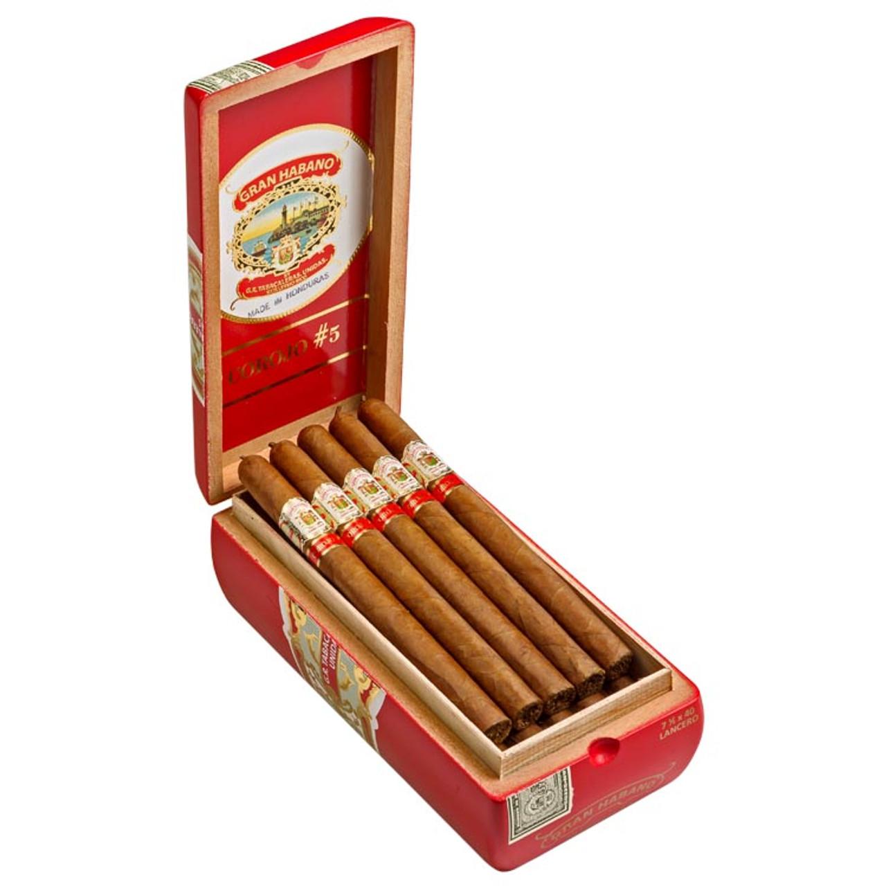 Gran Habano #5 Corojo Lancero Cigars - 7.5 x 40 (Box of 20)
