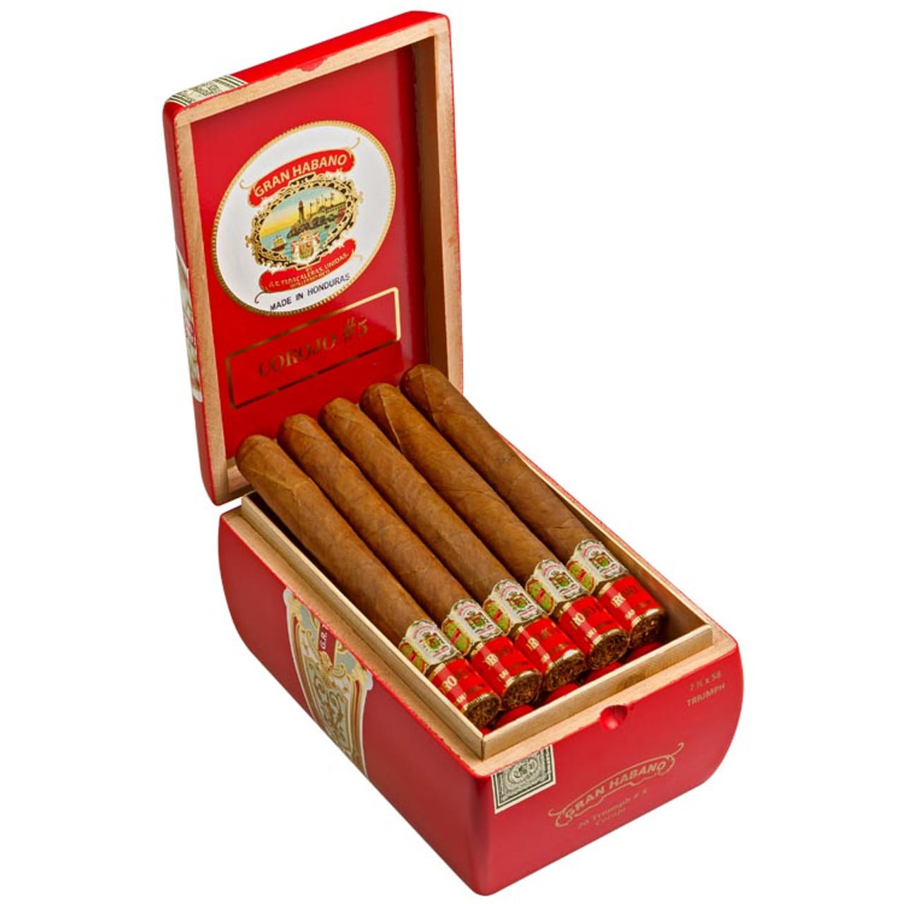 Gran Habano #5 Corojo Triumph Cigars - 7.5 x 58 (Box of 20)