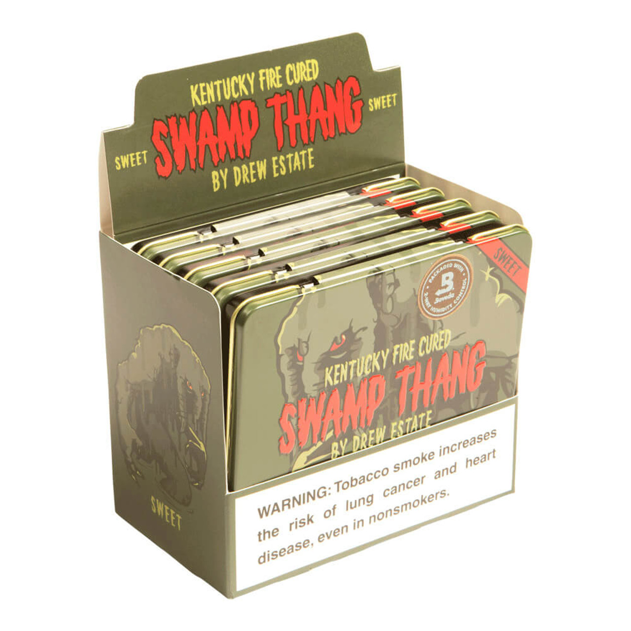 Kentucky Fire Cured Swamp Thang PoniesCigars - 4 x 32 (5 Tins of 10 (50 Total))