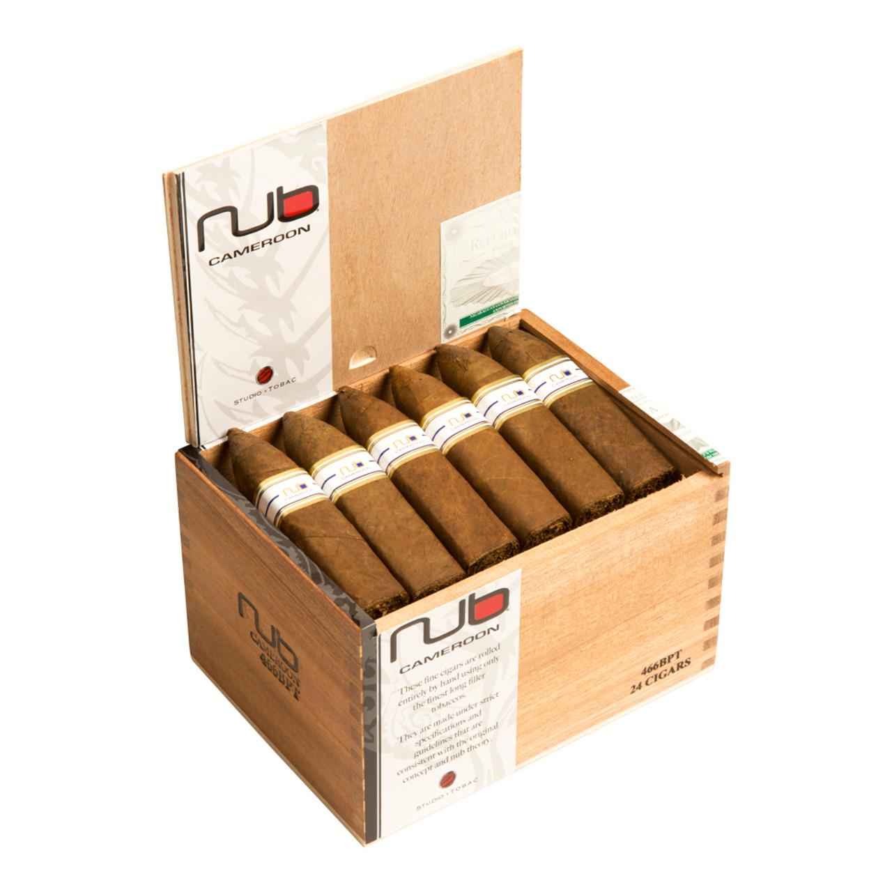 Nub 466 Cameroon BP Torpedo Cigars - 4 x 466 (Box of 24)