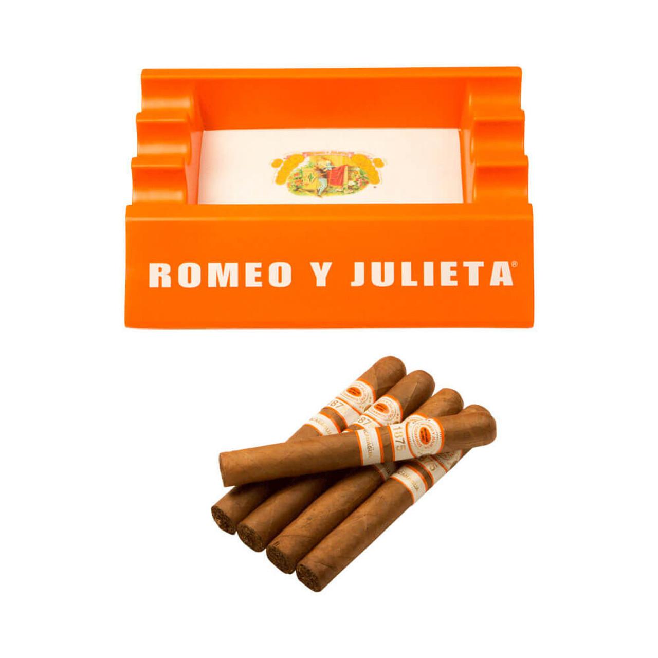 Romeo y Julieta 1875 Nicaragua Toro Cigars and Ashtray