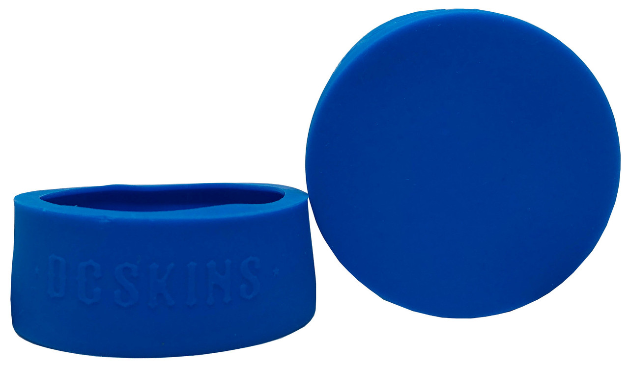 DC Skins Snuff Covers - Waterproof Protective Skins for Dip and Chew Cans - Blue