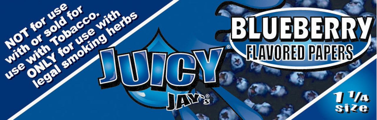 Juicy Jay's Blueberry 1.25 Flavored Hemp Rolling Papers Single