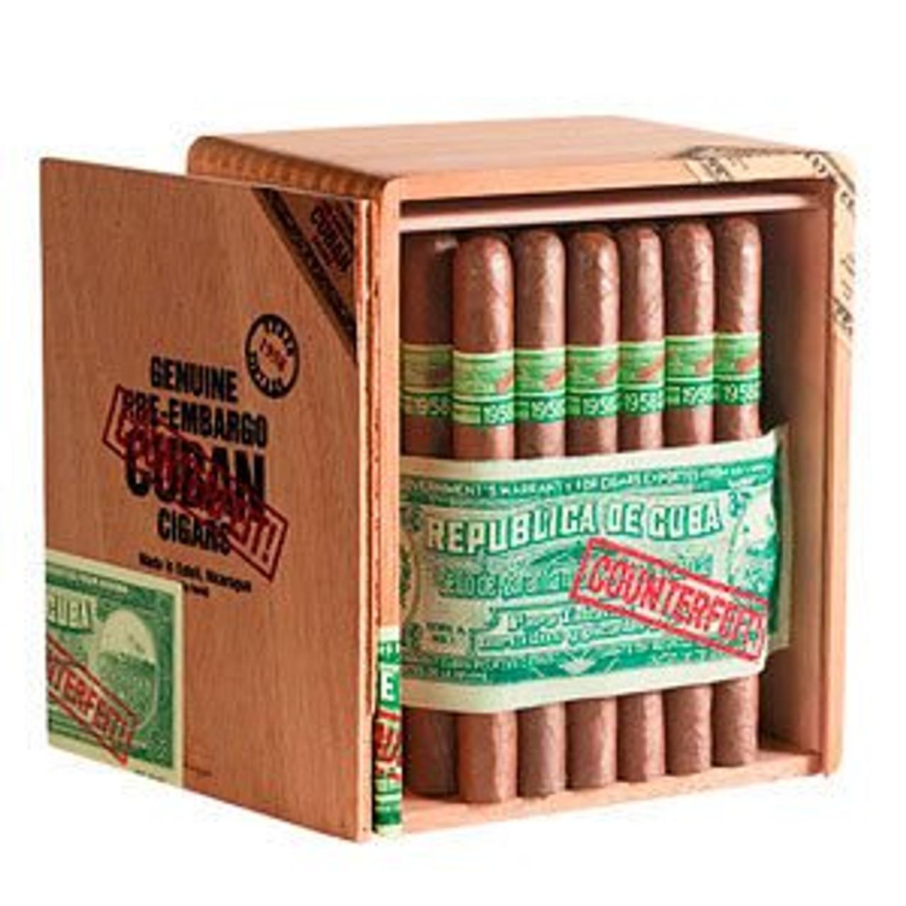 Genuine Pre-Embargo Counterfeit Cubans 1958 Corona Gorda Cigars - 6 x 50 (Box of 25)