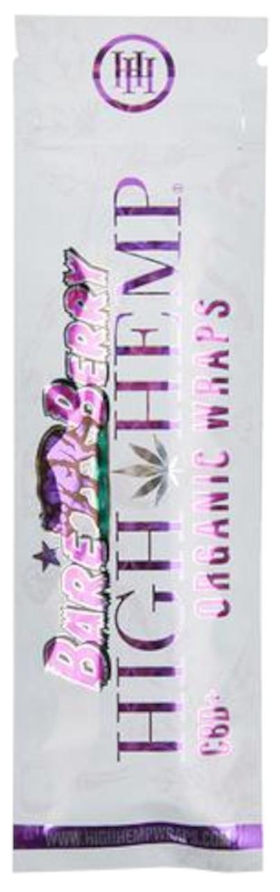 High Hemp Flavored Organic Hemp Wraps Bare Berry Single