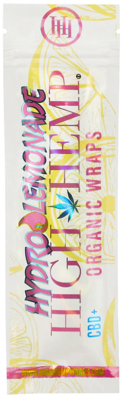 High Hemp Flavored Organic Hemp Wraps Hydro Lemonade Single