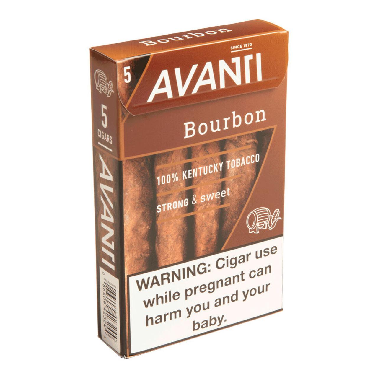 Avanti Bourbon Cigars - 4.5 x 34 (10 Packs of 5 (50 total))