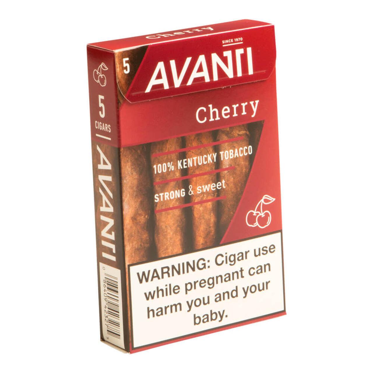 Avanti Cherry Cigars - 4.5 x 34 (10 Packs of 5 (50 total)