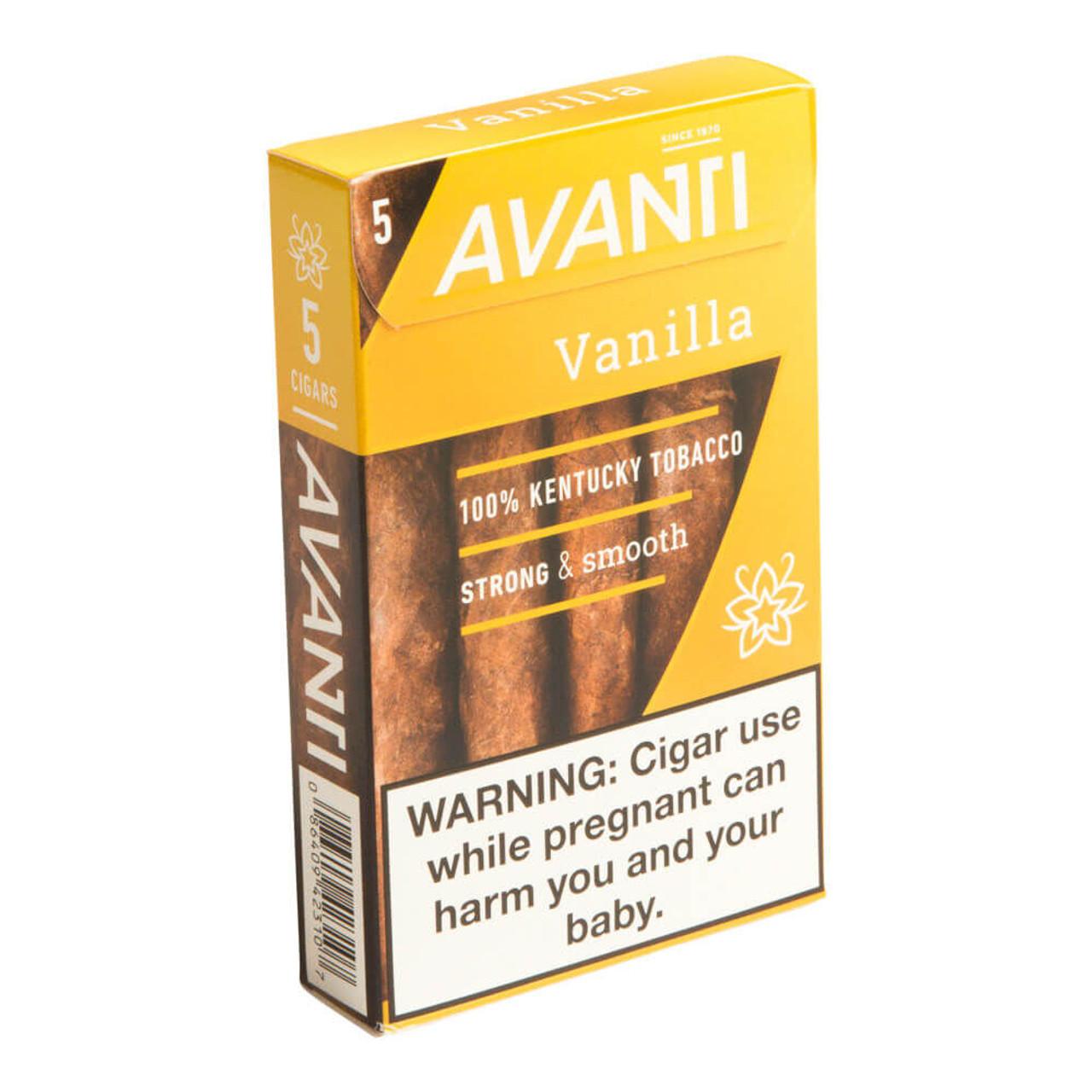 Avanti Vanilla Cigars - 4.25 x 34 (10 Packs of 5 (50 total))