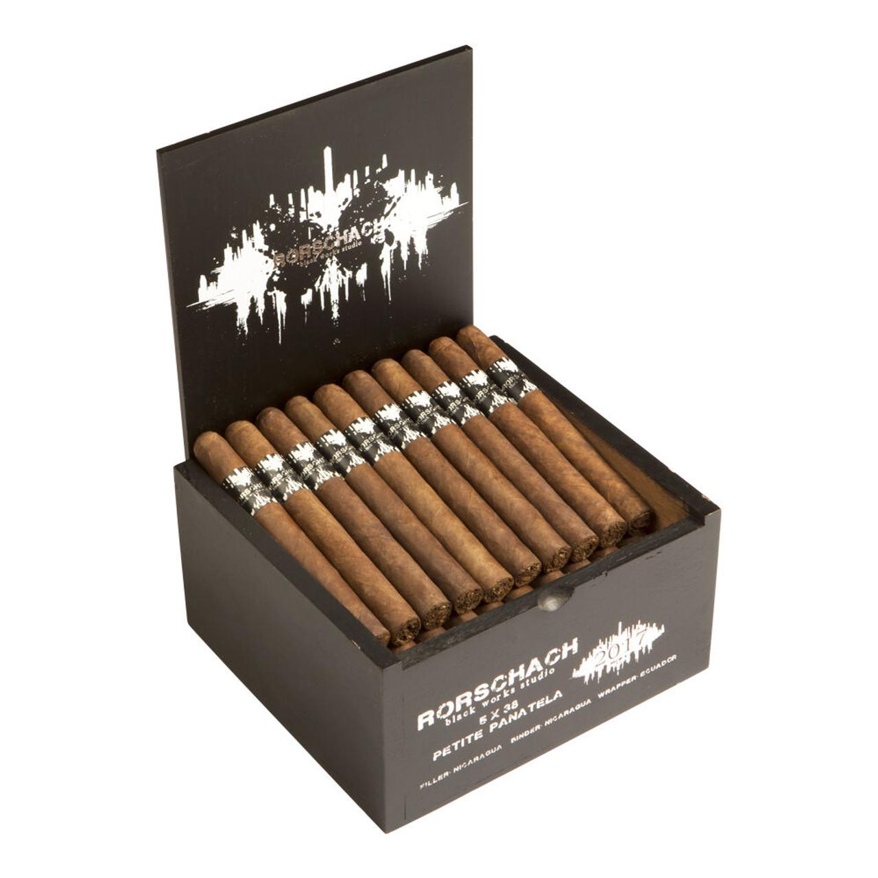 Black Works Studio Rorschach Petit Panatela Cigars - 5 x 38 (Box of 50)