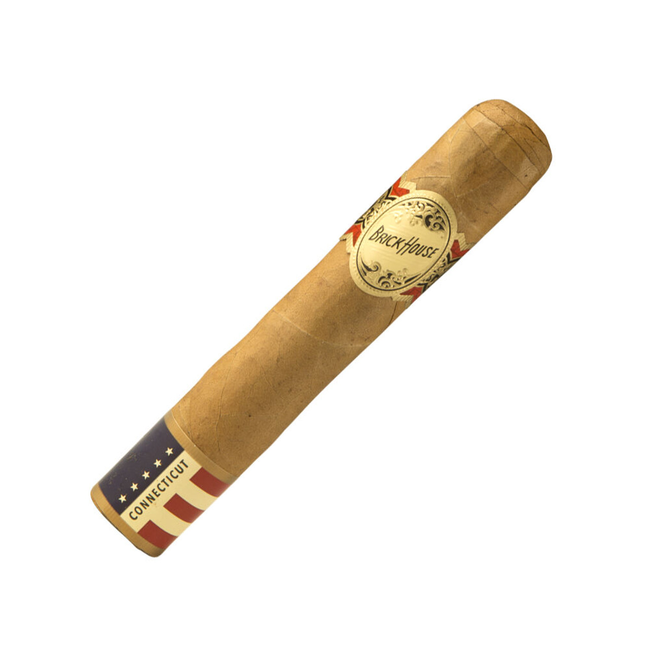 Brick House Double Connecticut Robusto Cigars - 5 x 54 (Box of 25)