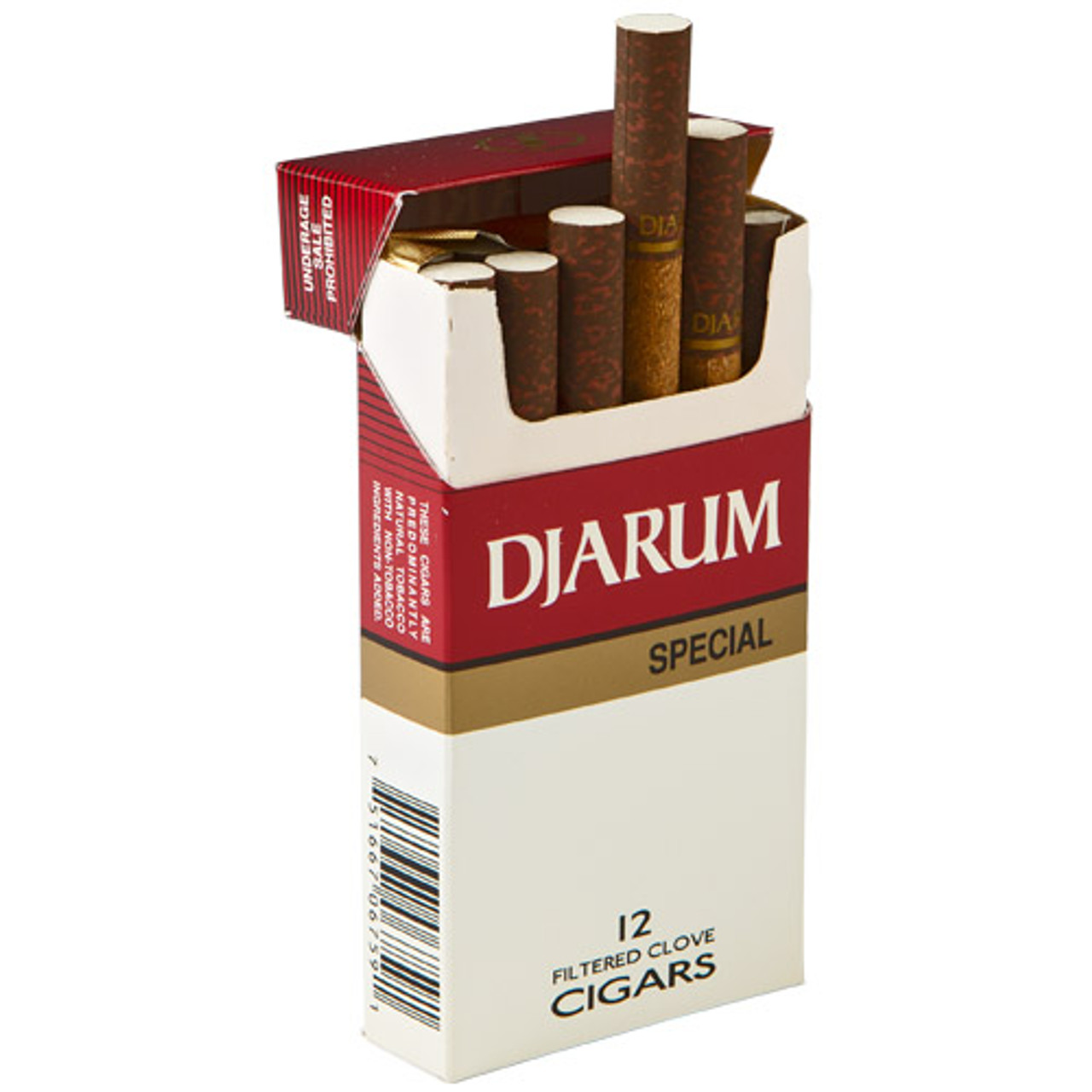 Djarum Filtered Special Cigars (10 Packs of 12) - Natural