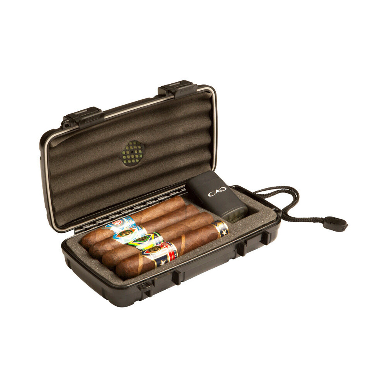 CAO World Travel Humidor Set w/ 4 Cigars