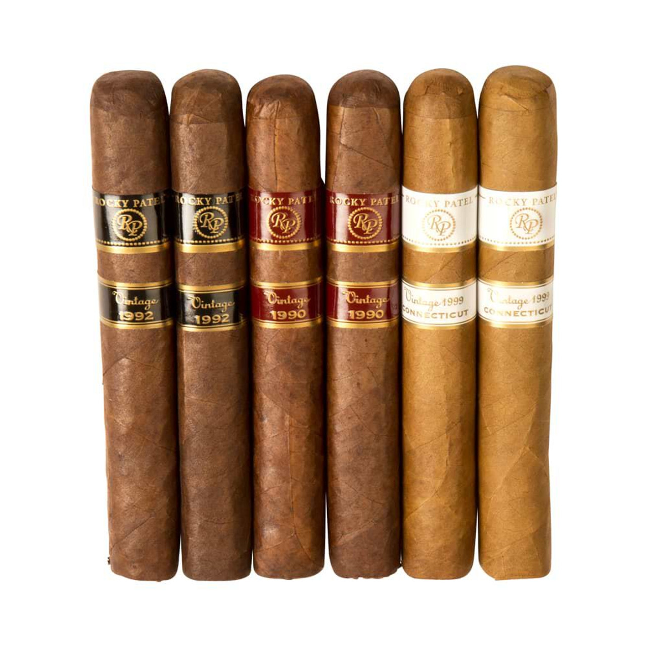 Cigar Samplers Rocky Patel Vintage Holiday Gift Can Cigars - 5.5 x 50 (Canister of 6)