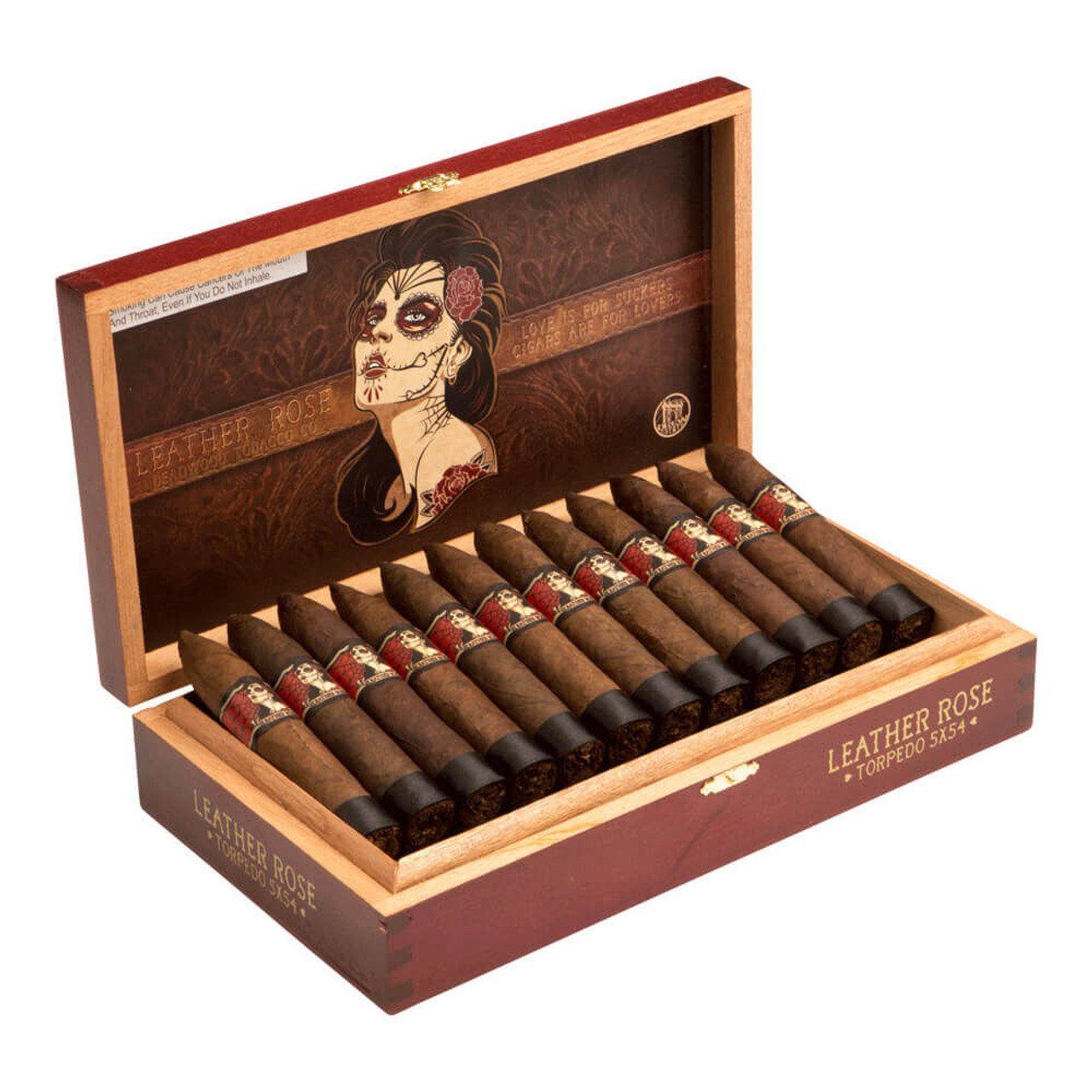 Deadwood Tobacco Co. Leather Rose Cigars - 5 x 54 (Box of 24)