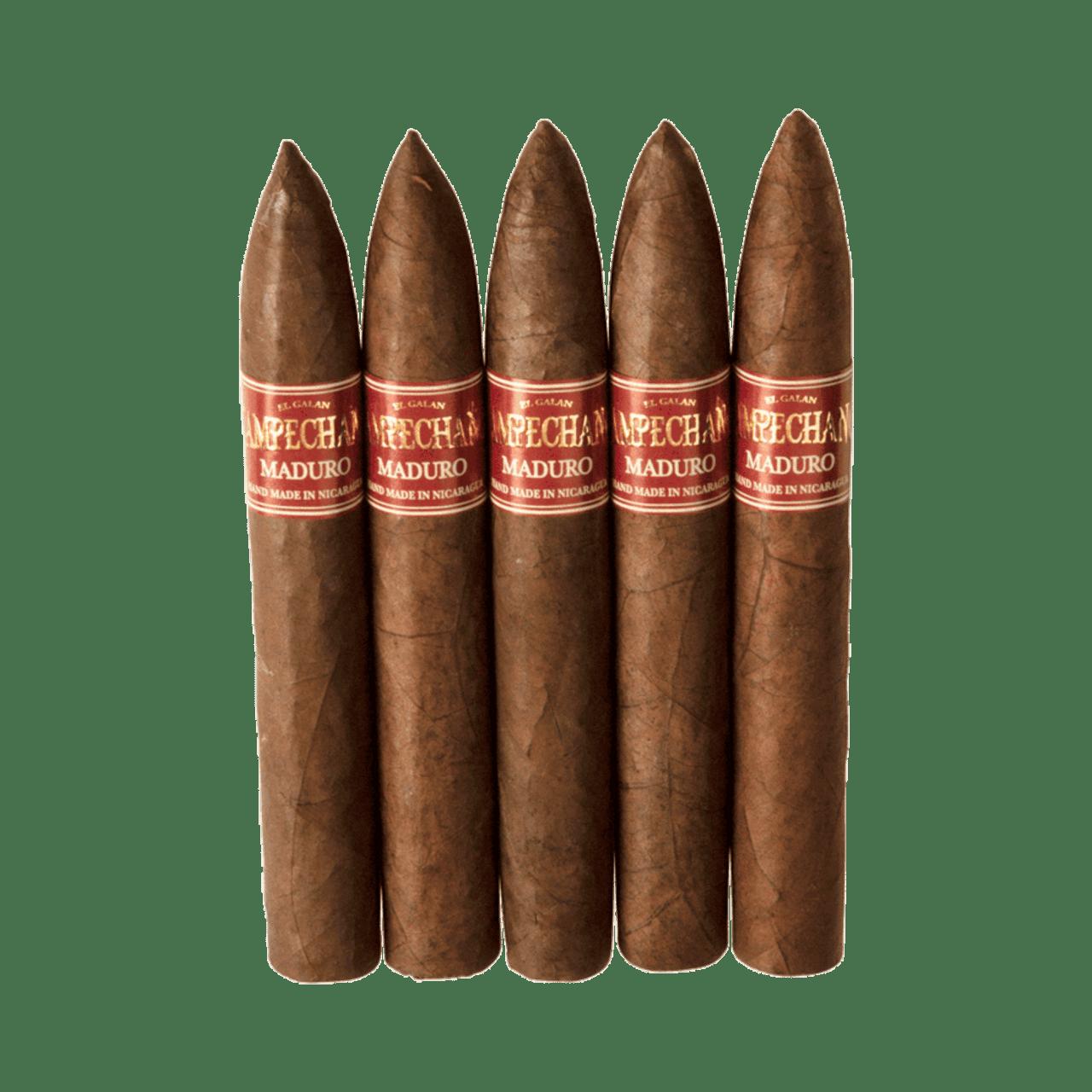 El Galan Campechano Torpedo Maduro Cigars - 6 x 52 (Pack of 5)