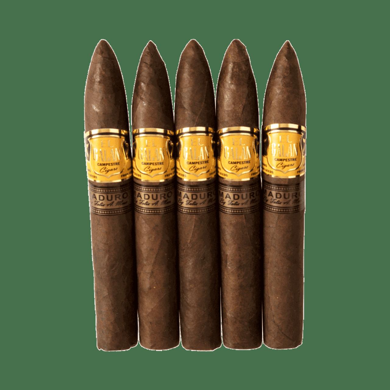 El Galan Campestre Torpedo Maduro Cigars - 6.5 x 52 (Pack of 5)