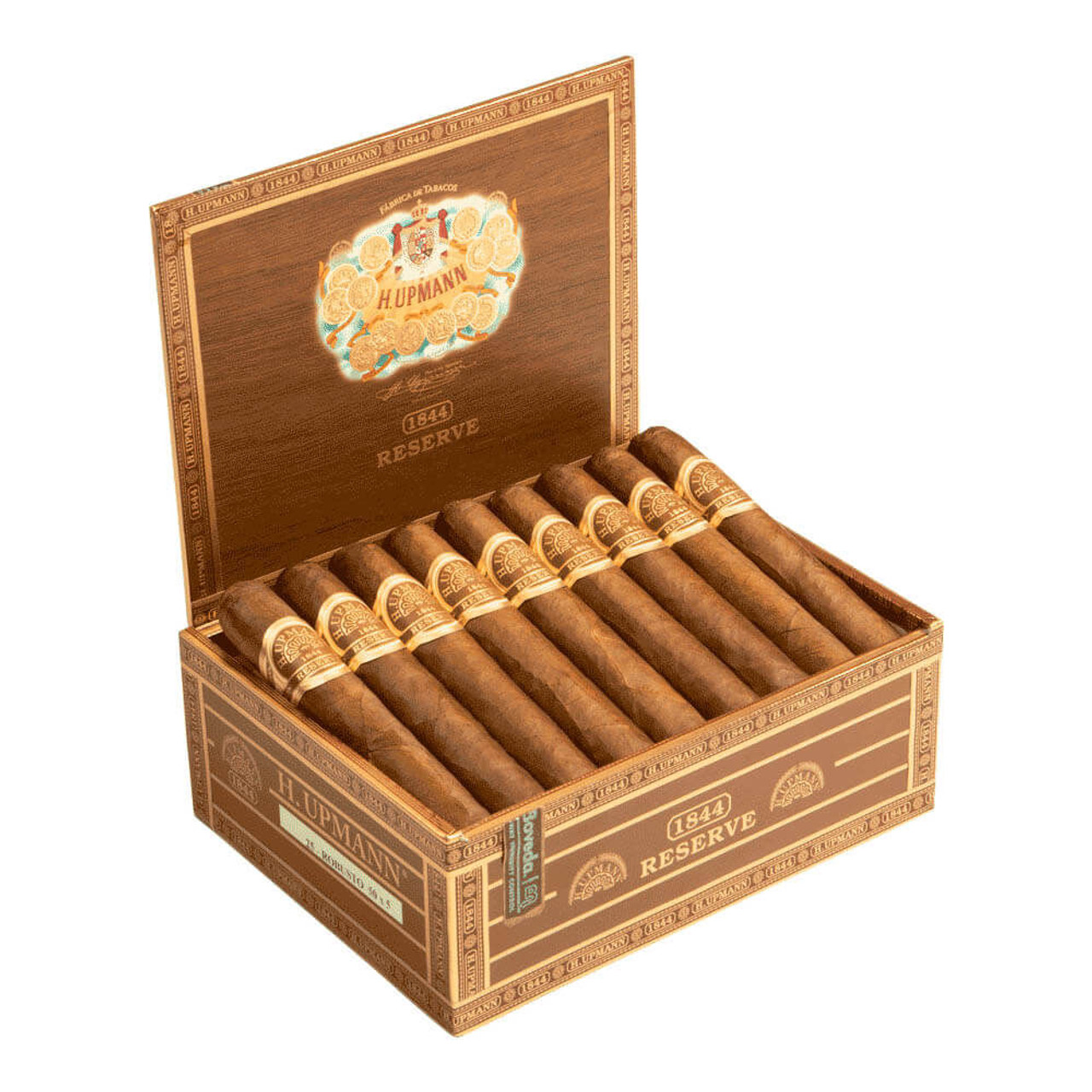 H. Upmann 1844 Reserve Robusto EMS Cigars - 5 x 50 (Box of 25)