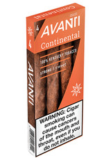 Avanti Continental Cigars (10 Packs Of 4) - Natural