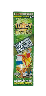 Juicy Jay's Tropical Passion Flavored Hemp Wraps - 1 Pack (2 Wraps)