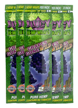 Juicy Jay's Grapes Gone Wild Flavored Hemp Wraps - 5 Pack (10 Wraps)