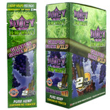 Juicy Jay's Grapes Gone Wild Flavored Hemp Wraps - ox of 25 (50 Wraps)